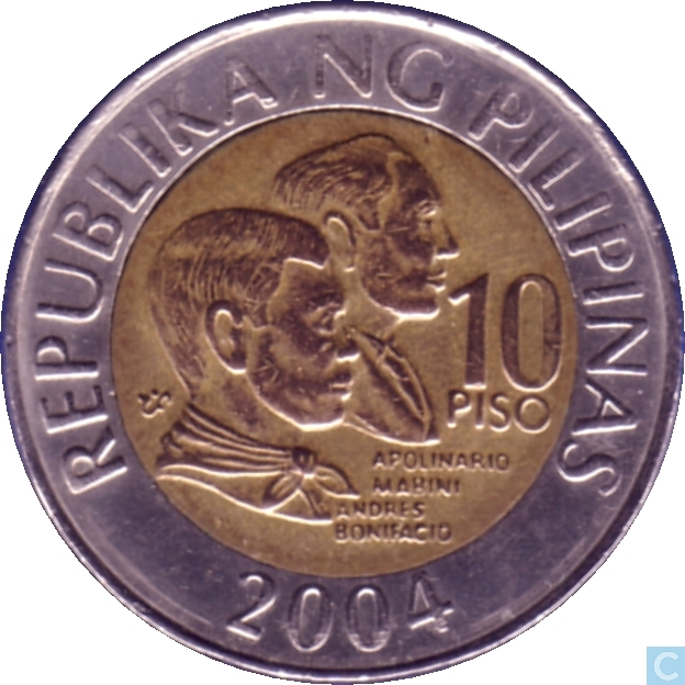 Coin clipart piso Coin 10 Coins Philippine Enlarge