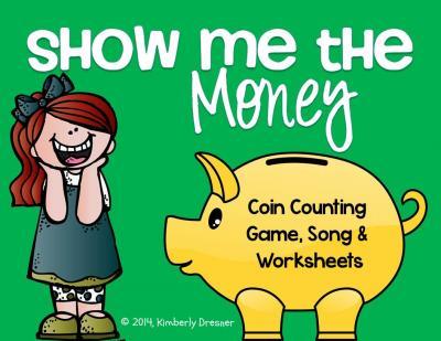Coin clipart show me the money Grade First TeachersNotebook Kimberly's Money!