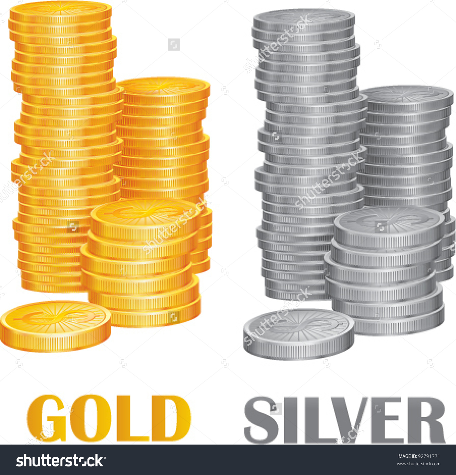 Coin clipart silver and gold Silver Clip Download and –
