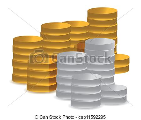 Coin clipart silver and gold Gold Gold And And Silver