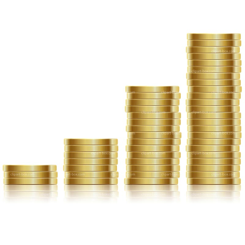 Coin clipart stack coin Vector coins coins 367 Stack