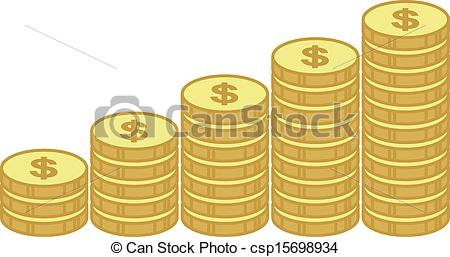 Coin clipart stack coin Csp15698934 Business Stacks  of