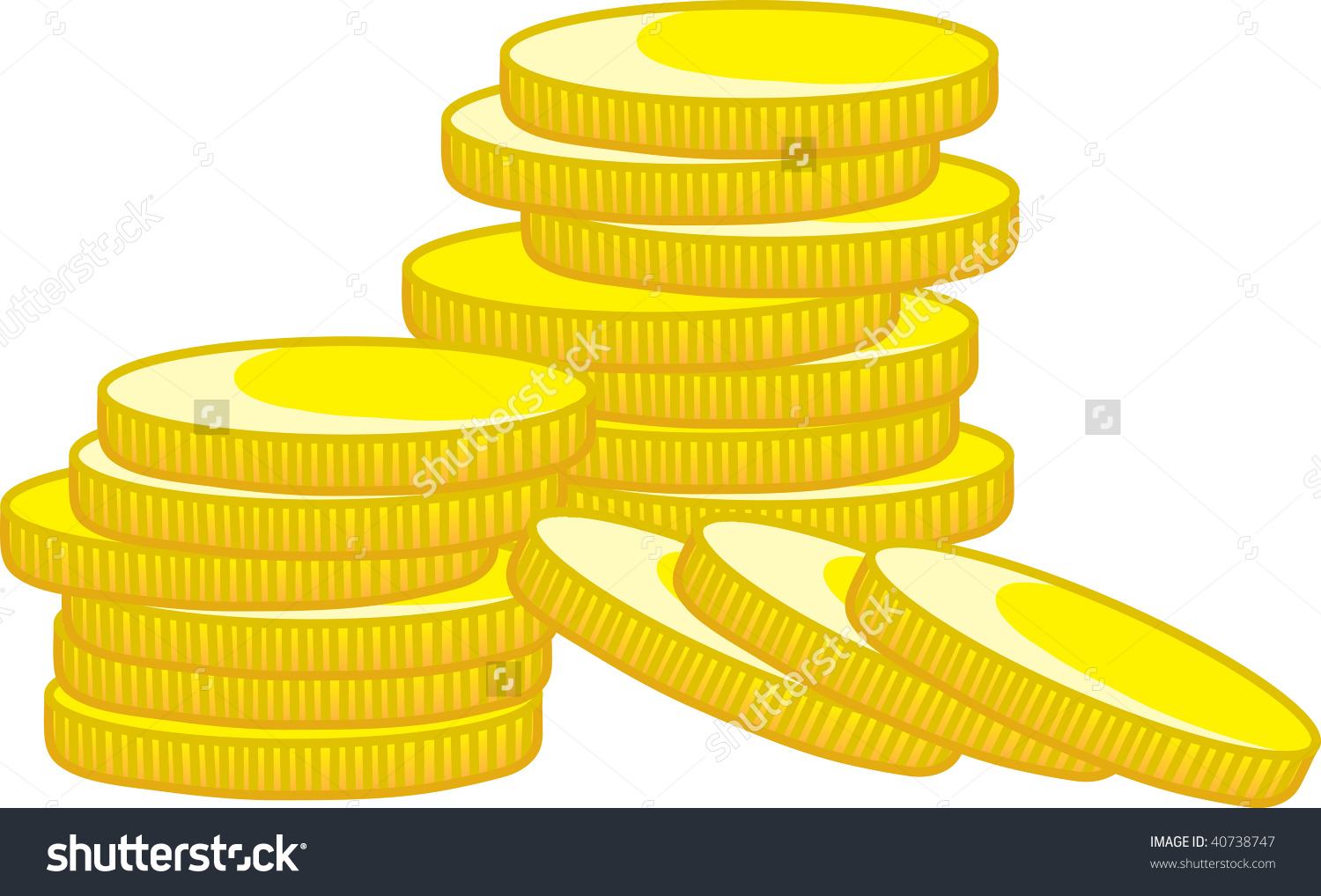 Coin clipart stack coin Stack coins Gold stack of