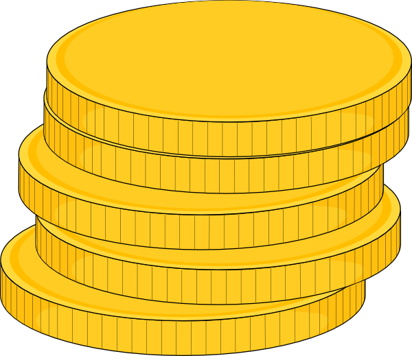 Coin clipart stack coin Stack Clker image  Coins