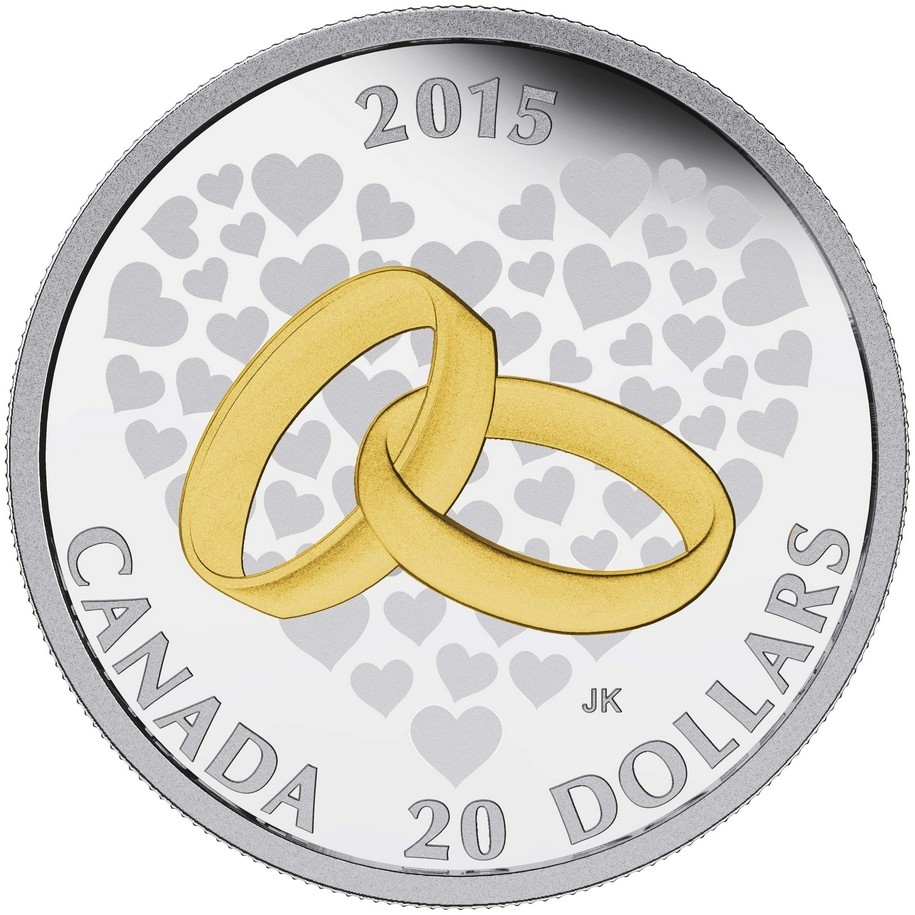 Coin clipart wedding $20 Silver Fine Wedding Coin