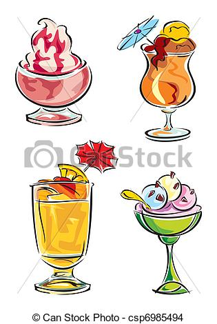 Beverage clipart cold thing Drinks cold desserts Vector