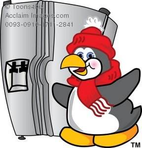 Chill clipart freezer Clipart Penguin Cartoon  Opening