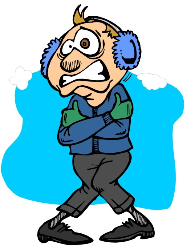 Chill clipart cold weather Clipart Temps Cause person freezing