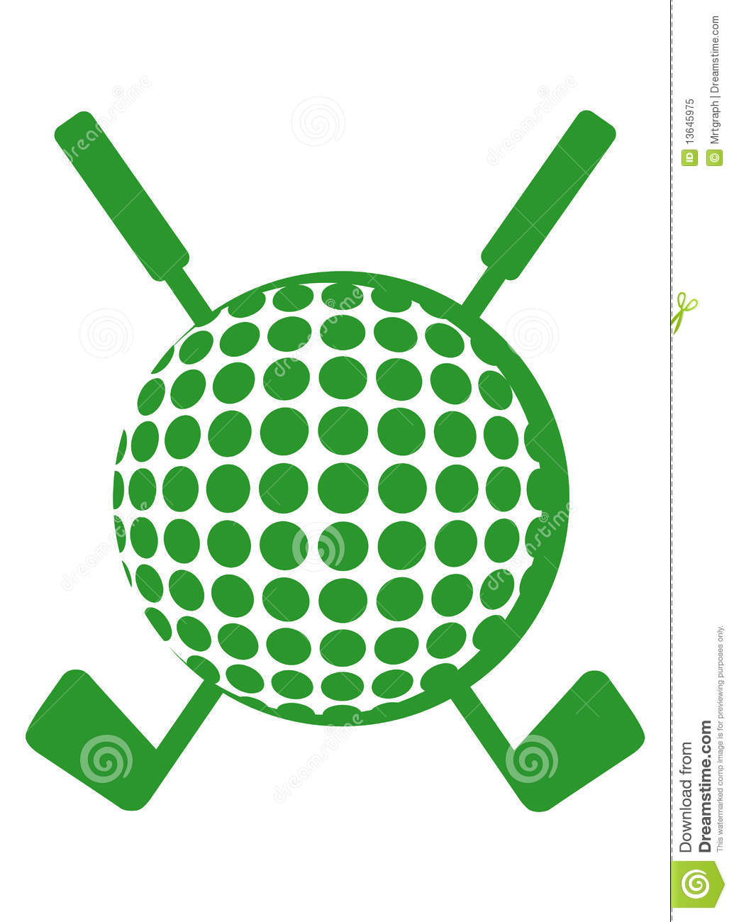 Golf Course clipart golf ball Club Free Clipart Crossed Images