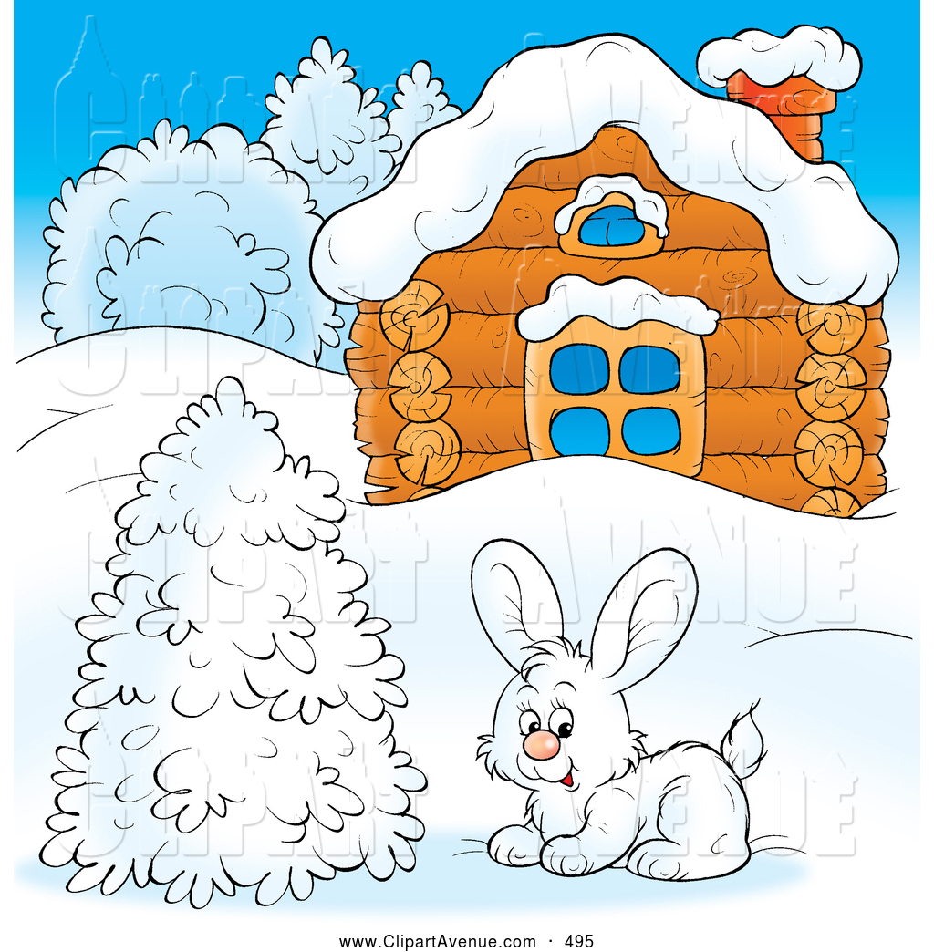 Winter clipart winter time Log House Stock Log Illustrations