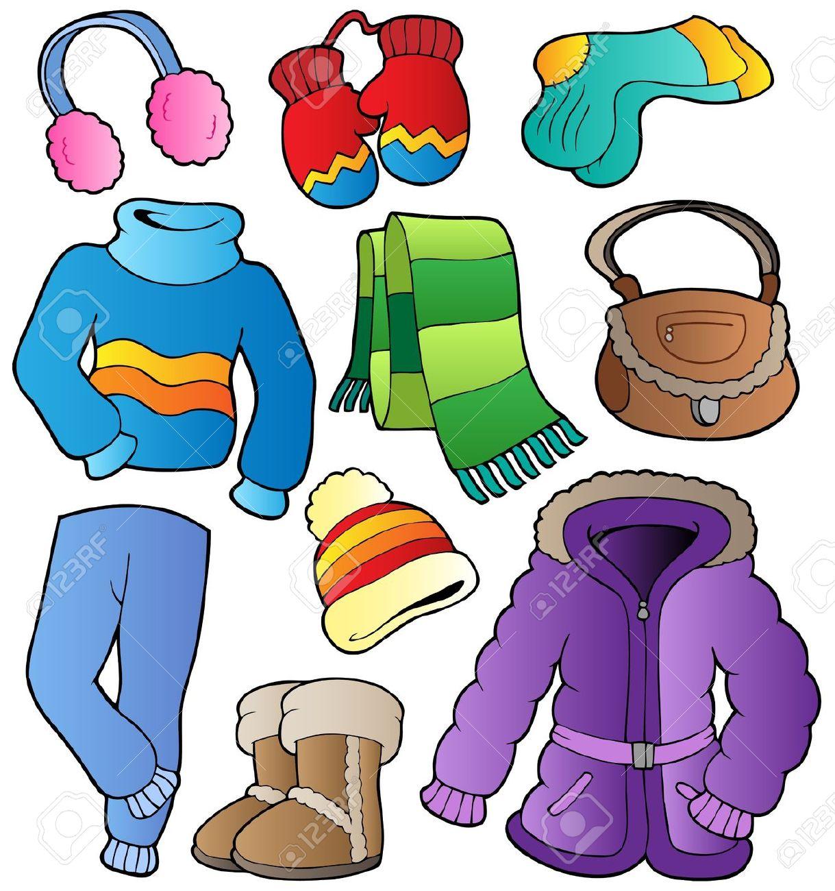 Winter clipart preschool Hľadať Winter pages clothes winter