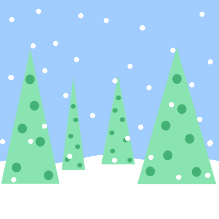 Christmas Tree clipart scene Scene image: Clipart  Winter