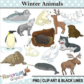 Tundra clipart winter animal #3