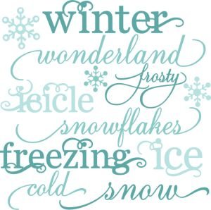 Chilling clipart winter word Winter cutting Winter files only