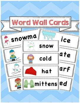 Chilling clipart winter word Words wall Winter vocabulary ideas