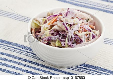 Coleslaw clipart Dish salad side coleslaw Stock