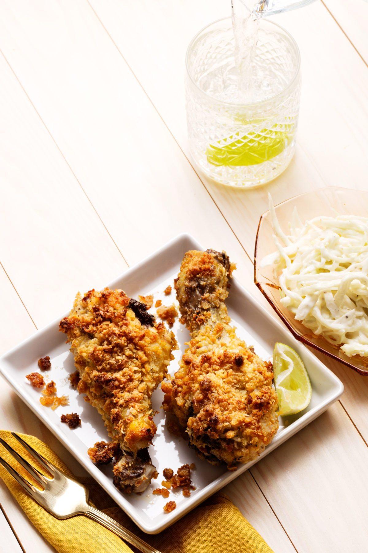 Coleslaw clipart example go food Chicken Doctor Drumsticks with Coleslaw