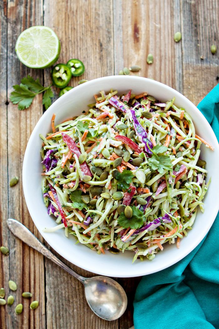 Coleslaw clipart tossed salad Broccoli Pinterest Cilantro Lime on