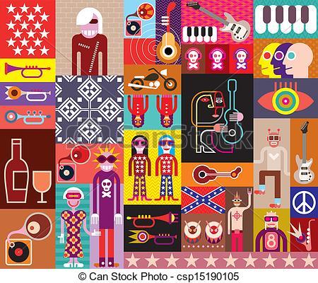 Collage clipart Clip Art Collage  Symbol