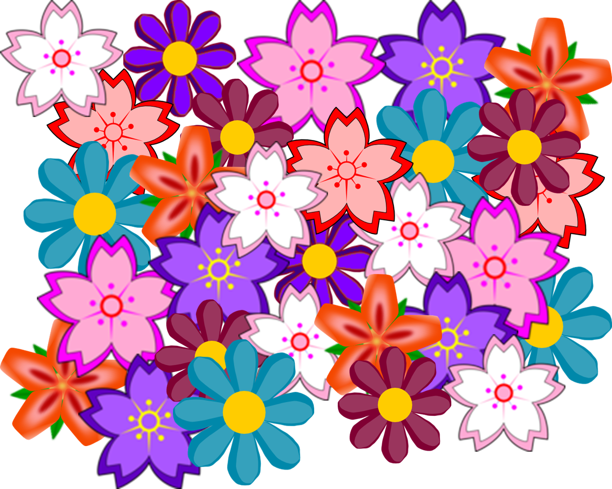 Collage clipart Flower clip at Clker com
