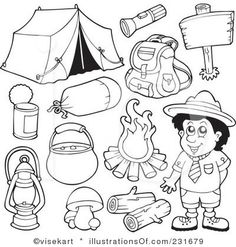 Camper clipart camping gear Art Clip and scout small