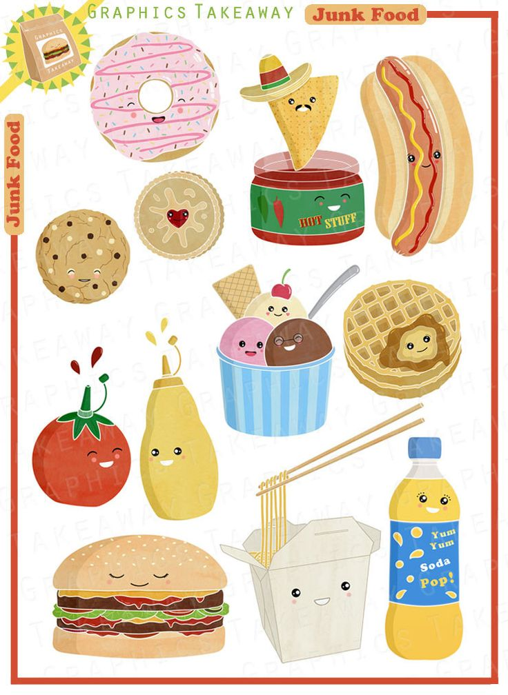 Brownie clipart cafe food On Clipart images Collage Junk