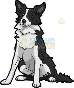 Border Collie clipart farm dog Quiet Cartoon (Border Dog Art