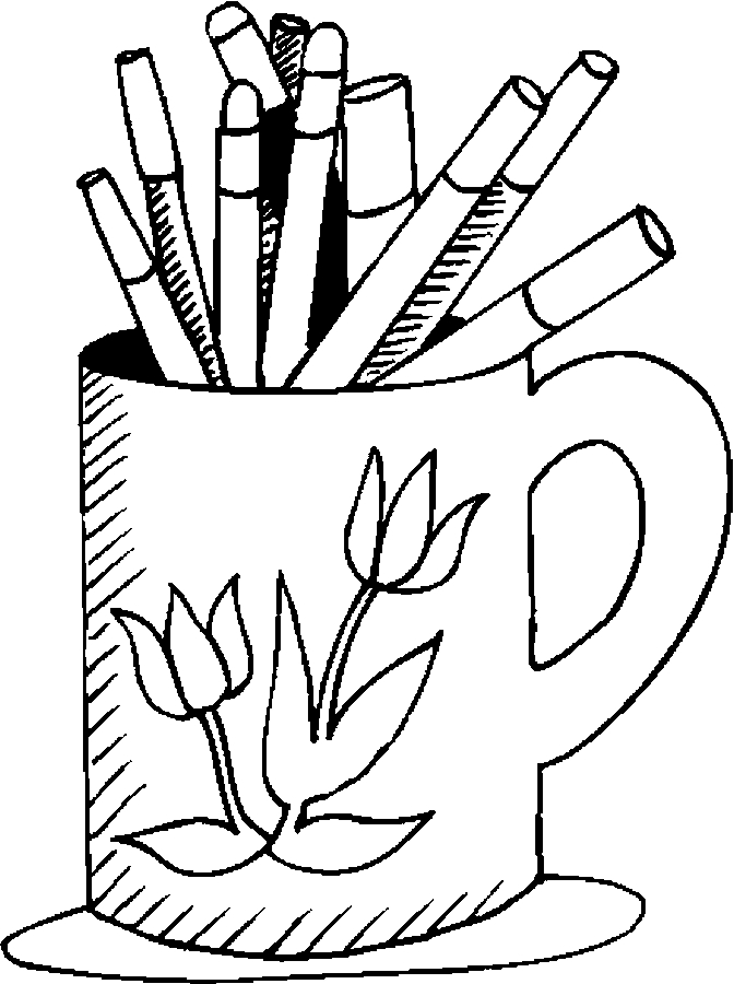 Marker clipart coloring Coloring Supplies  School Pages