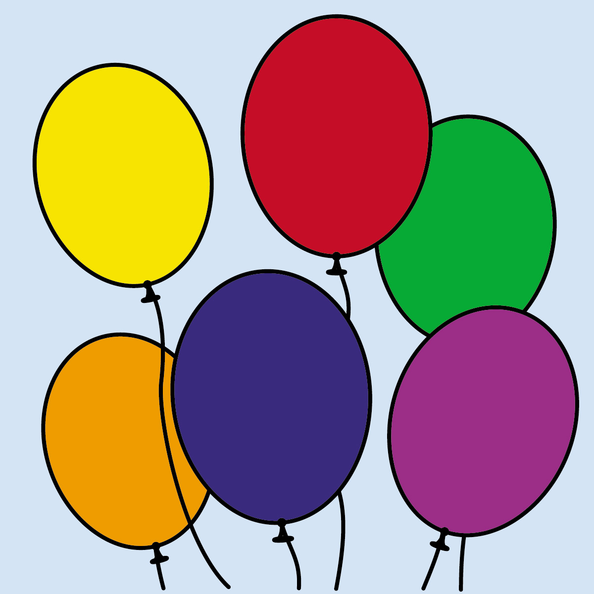 Color clipart balloon Clipart Free collection Clipart of