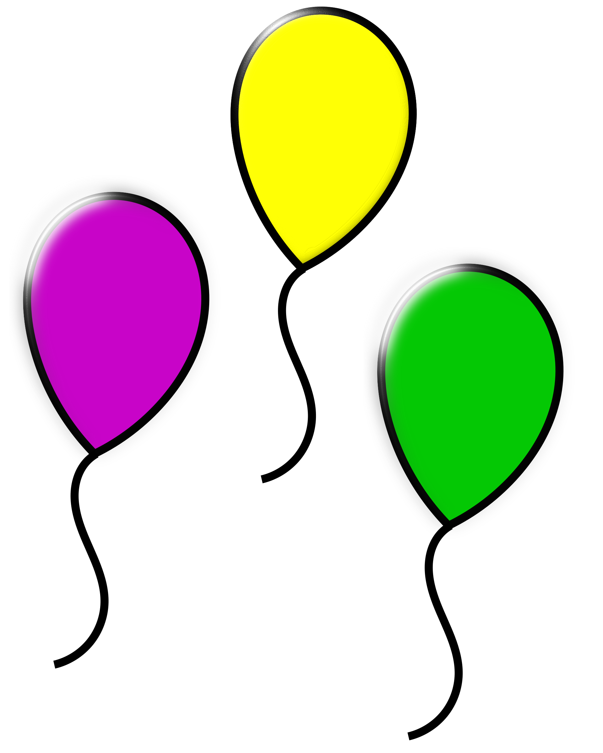 Color clipart balloon Colored balloons Clipart colored balloons