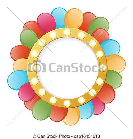 Color clipart banner Clip Holiday with color round