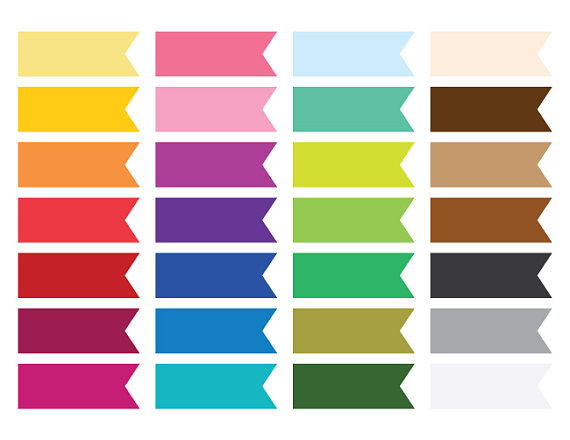 Color clipart banner Flat Ribbon Use Type Type