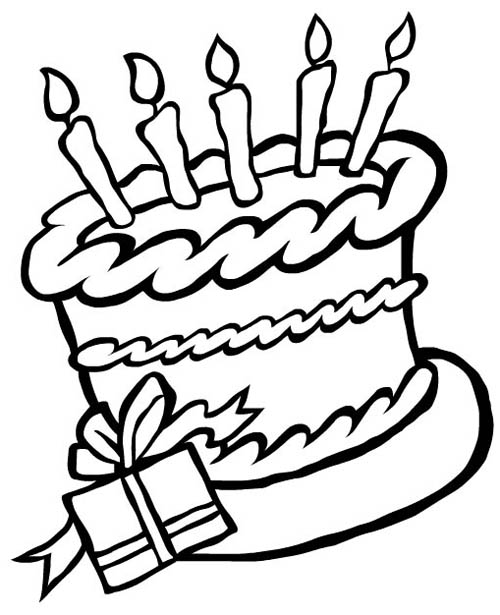 Color clipart birthday Color Pages birthday  coloring