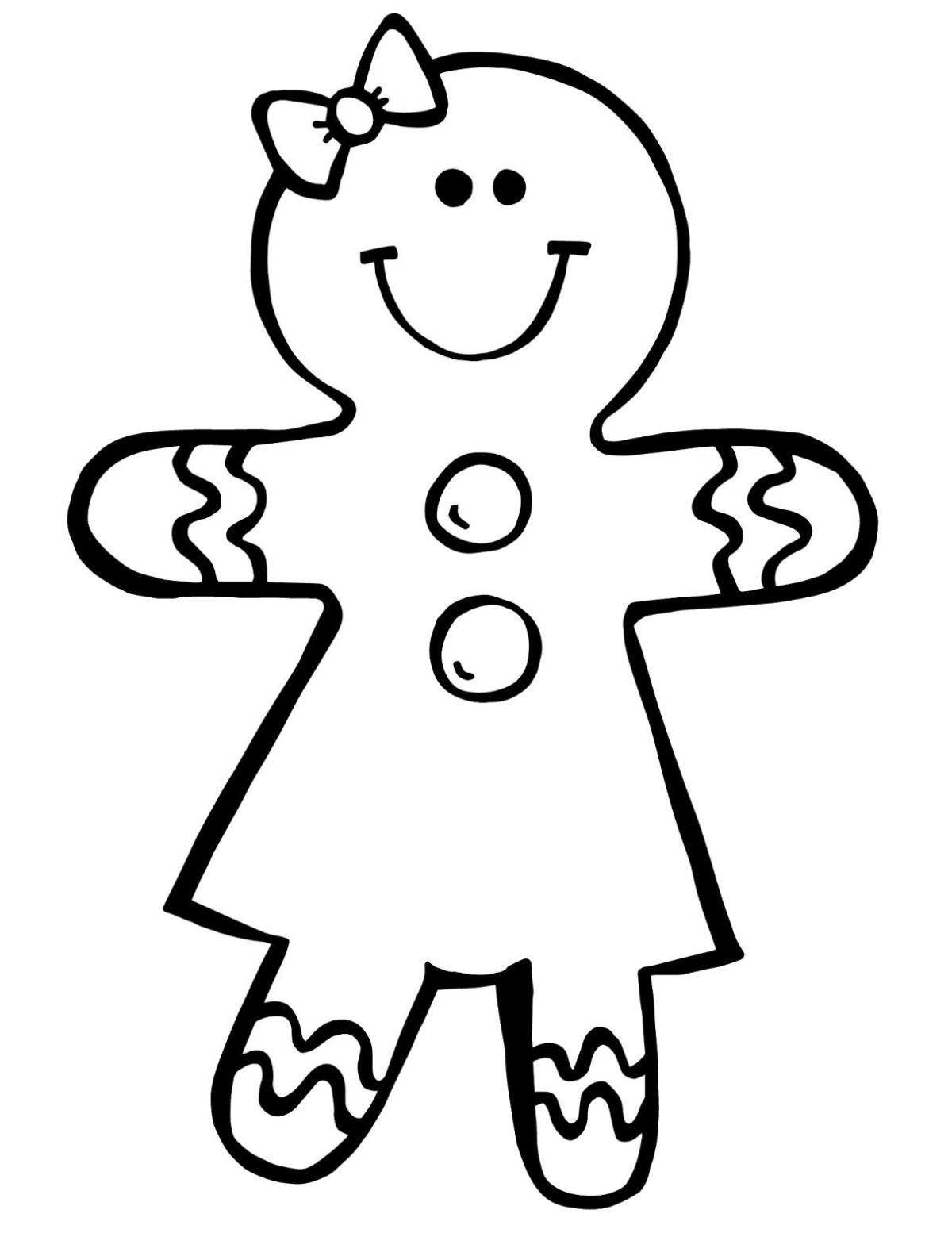 Color clipart boy coloring Art Gingerbread Page To Printable