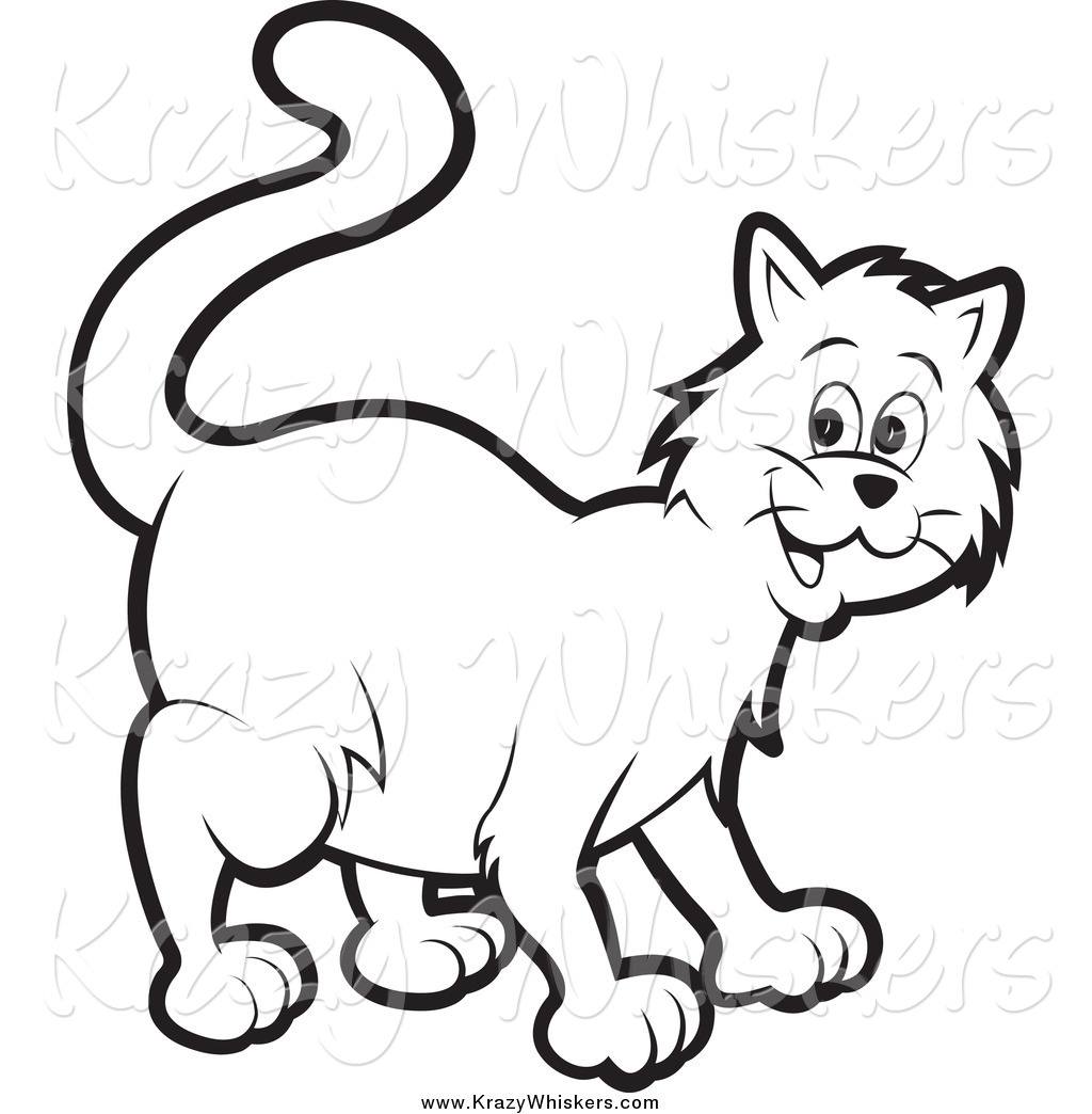 Color clipart cat Color Happy Page White Royalty