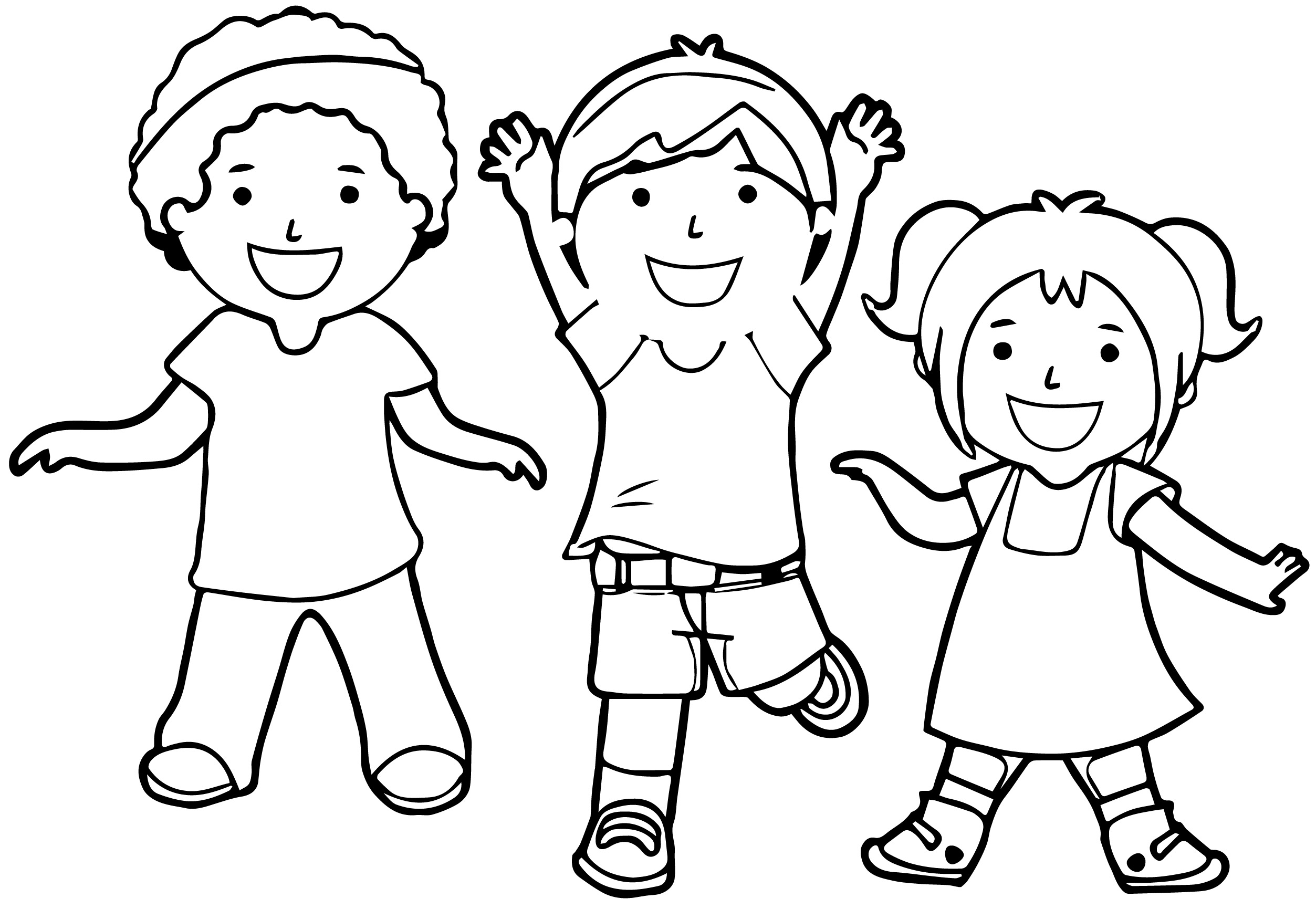 Color clipart child Color Children To With For