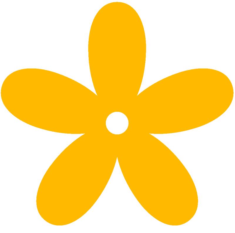 Orange Flower clipart bright flower Clipart 26559 Flowers yellow Yellow