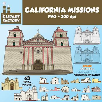 Color clipart factory Teachers California 21 Art: Missions