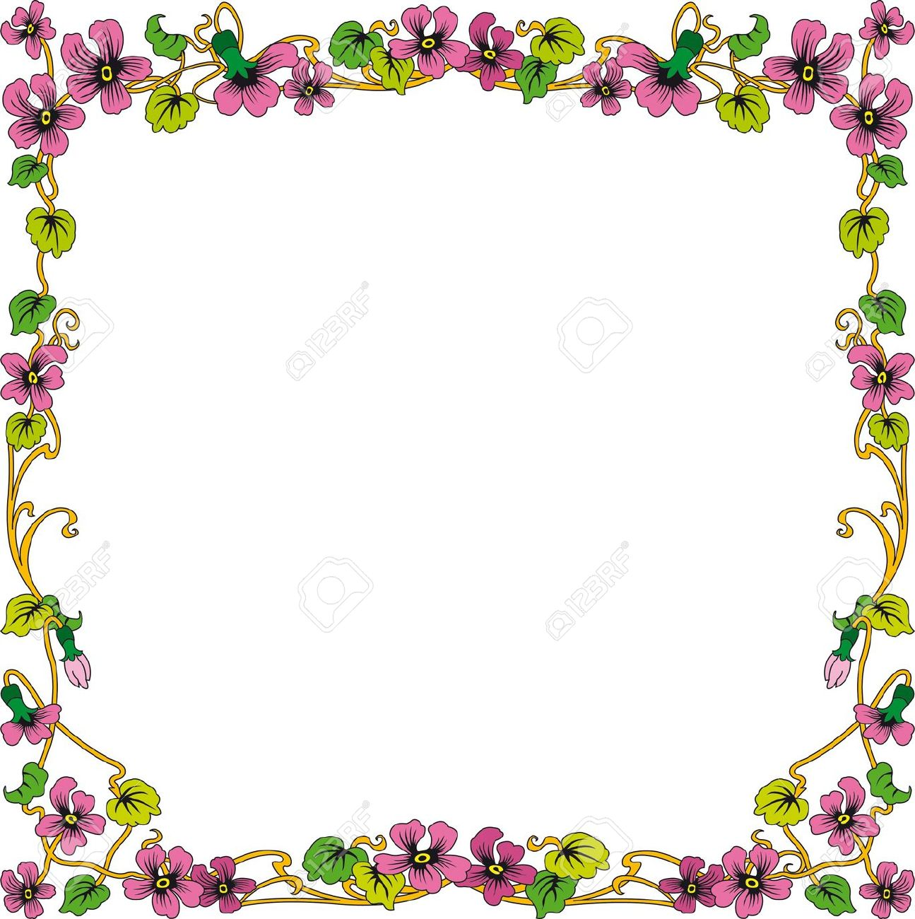 Color clipart frame  Free Square Historical Cliparts