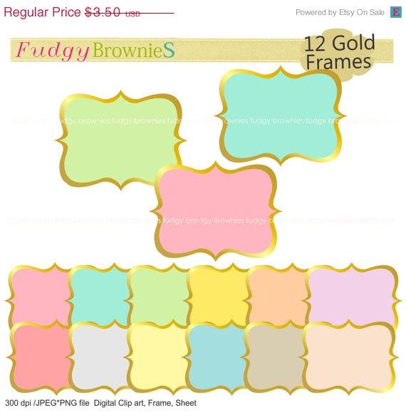 Color clipart frame Color 162 frames ON Gold