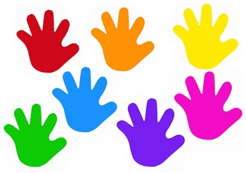 Color clipart kid hand Clipart kids clipart Hand for