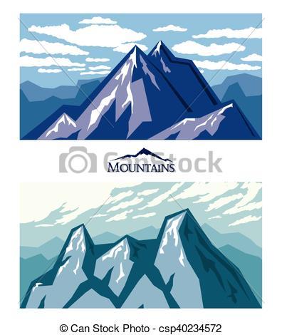 Color clipart mountain range Illustration mountains Forbidding climbing csp40234572