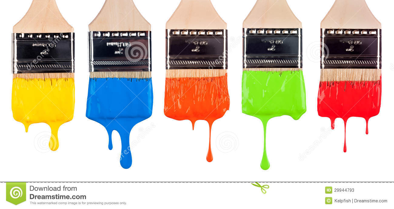 Color clipart paintbrush Collection Dripping brush clip Dripping