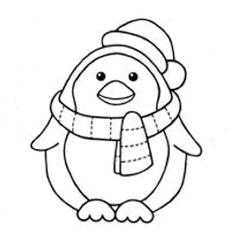 Drawn penguin cristmas Penguins Art Cartoon Pictures Coloring