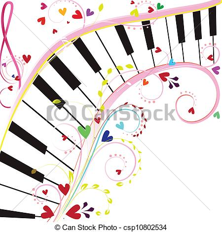 Colorful clipart piano #7