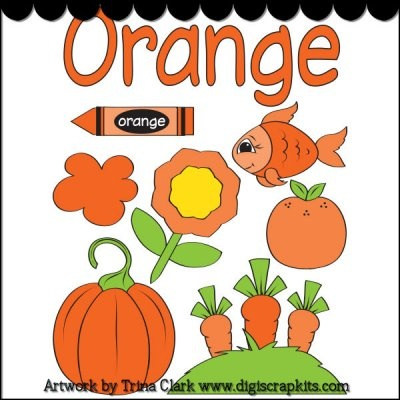 Crayon clipart color orange Learning 1 Orange Early on