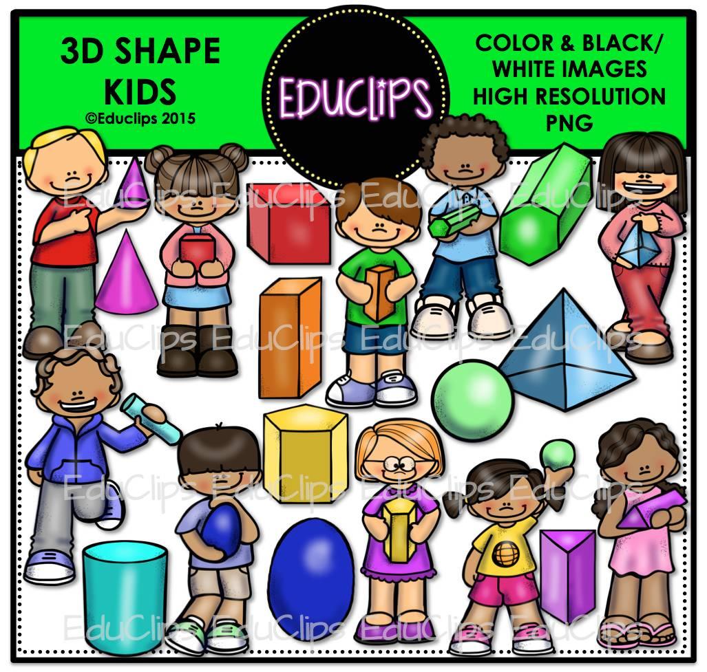 Color clipart shape Kids Shape (Color Bundle Art
