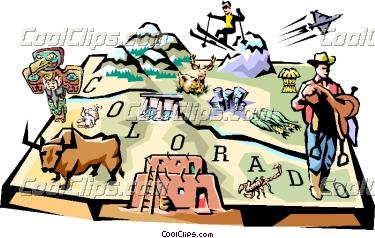 Colorado clipart Cliparts Colorado Map Clipart Colorado