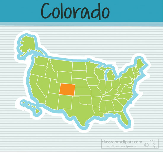 Colorado clipart Clipart US and State Fifty