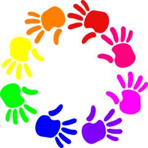 Colorful clipart Hands Hands Art Colorful Colorful